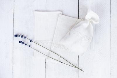 Lininis maišelis baltas NS8